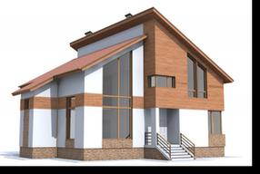 дом из газоблоков 102-01